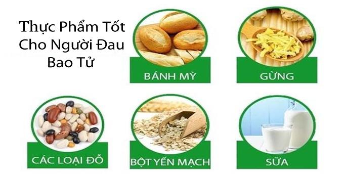 thực phẩm cho người đau bao tử