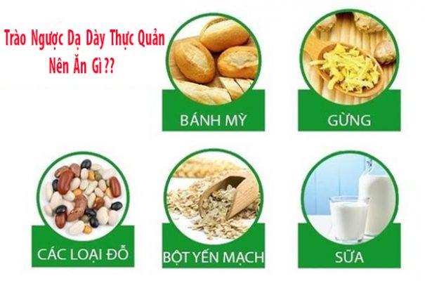trào ngược dạ dày thực quản nên ăn gì